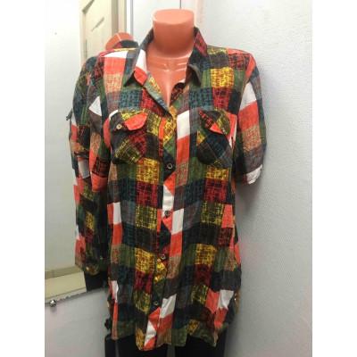 Дешевая блузка штапель клетка