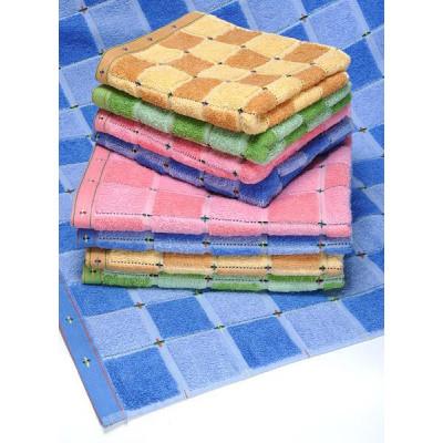 Махровое полотенце Пестрая клетка