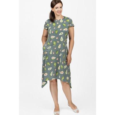 Платье с авокадо